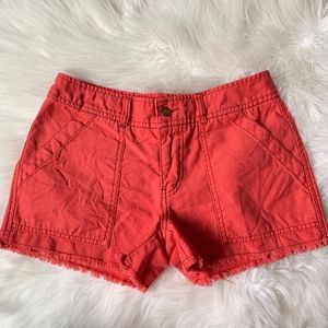 Free People Frayed Cotton Relaxed Fit Mini Shorts